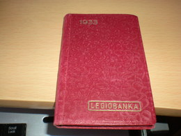 1933 Legiobanka Banka Ceskoslovenskych Legii Centrala Praha - Calendarios