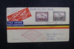 BELGIQUE - Enveloppe De Bruxelles Pour Conakry En 1937 Par Voie Française, Affranchissement Plaisant - L 40486 - Cartas