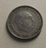 1957 - Espagne - Spain - 5 PESETAS, Franco, *63, KM 786 - [ 5] 1949-… : Koninkrijk