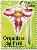 Lote P2011-4, Peru, 2011, Sello, Stamp, Orquidea, Maxiillaria Pyhalae, Orchid - Peru