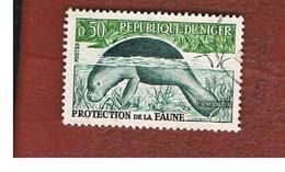 NIGER  -  SG 99  -  1962 WILDANIMALS: AFRICAN  MANATEE    -  USED * - Niger (1960-...)