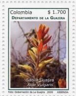 Lote 19e2, Colombia, 2009, Guajira, Flora, Sabila, Aloe Vulgaris, Stamp - Colombia