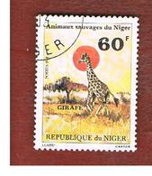 NIGER  -  SG 843  -  1981 ANIMALS: GIRAFFE    -  USED * - Niger (1960-...)