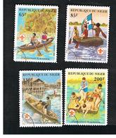 NIGER  -  SG 897.900  -  1982  BOY SCOUT MOVEMENT (COMPLET SET OF 4)   -  USED * - Niger (1960-...)