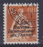 SUISSE SDN Bureau International Du Travail 1923: Le ZNr 9, Oblitéré - Officials