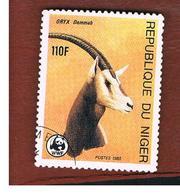 NIGER  -  SG 1041  -  1985 WWF: ENDANGERED ANIMALS (ORYX DAMMAH)  -  USED * - Niger (1960-...)