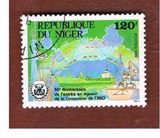 NIGER  -  SG 1163  -  1989 INT. MARITIME ORGANIZATION  -  USED * - Niger (1960-...)