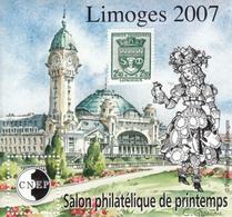 FRANCE  BLOC SOUVENIR 2007/08 N° 48/ 50/51/52  LIMOGES / PARIS /LYON48 - CNEP