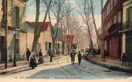 83 LA SEYNE AVENUE DES SABLETTES ANIMEE TRAMWAY CARTE COLORISEE - La Seyne-sur-Mer