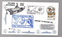 Porte-avions R98 Clémenceau Miission Balbuzard 1994 Adriiatiique Ex-Yougoslavia (201) - France