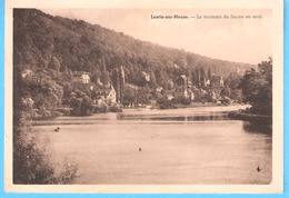Lustin-sur-Meuse (Profondeville)-1949-Vue Sur Le Tournant Du Fleuve En Aval Et Sur Les Villas-Edition Belge - Profondeville