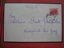 8072 Fernitz Bei Graz - Brief Nach Kroisbach Bei Graz 1932 - Marcophilie - EMA (Empreintes Machines)