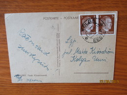 ESTONIA WW II 1943 OSTLAND KOLGA CANCEL ,  OLD POSTCARD    ,0 - Estland