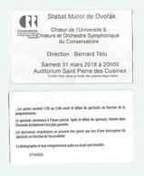 Ticket Concert Stabat Mater De Dvorak - Auditorium Saint Pierre Des Cuisines à Toulouse - 2018 - Concert Tickets