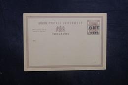 HONG KONG - Entier Postal Surchargé Non Circulé - L 40499 - Postal Stationery