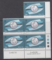 Malta 1988 Campaign North South 1v (5x) ** Mnh (44337A) - Europese Gedachte