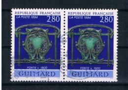 Frankreich 1994 Mi.Nr. 3001 Waagr. Paar Gestempelt - Gebraucht