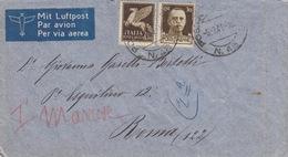 POSTA MILITARE -N°48 SU BUSTA VIA AEREA - 1900-44 Victor Emmanuel III.