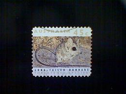Australia, Scott #1243, Used(o), 1992, Threatened Species, Long Tailed Dunnart, 45c, Multicolored - 1990-99 Elizabeth II