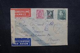 BELGIQUE - Enveloppe De Deurne En Exprès Et Par Avion Pour München En 1942 Avec Contrôle Postal - L 40502 - Cartas