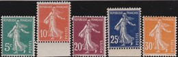 France  .    Yvert  .     137/141       .  **   .     Neuf  SANS  Charniere  .   /   .  MNH - France