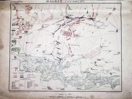 CARTE HISTORIQUE MILITAIRE - NAPOLEON -  WAGRAM,  5 Et 6 JUILLET 1809 - Cartes