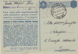 395 - FRANCHIGIA - POSTA MILITARE N°80 - MEDAGLIA D'ORO AL VALOR MILITARE GENERALE DI CORPO D'ARMATA GIUSEPPE TELLERA - 1900-44 Vittorio Emanuele III