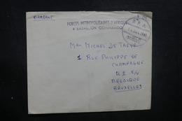 BELGIQUE - Enveloppe En FM De Soldat En Afrique Pour La Belgique En 1961, Voir Cachets Militaire - L 40510 - Marcophilie
