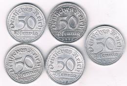 50 PFENNIG LOT DUITSLAND /6307/ - [ 3] 1918-1933 : Republique De Weimar
