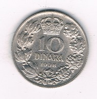 10 DINAR 1938 SERVIE /6308/ - Serbie