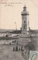 Carte Postale Ancienne De Marseille - Le Phare Sainte Marie - Barche
