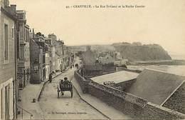 - Dpts Div -ref-AL689- Manche - Granville - Rue Saint Gaud - St Gaud Et Roche Gautier - Carte Bon Etat - - Granville