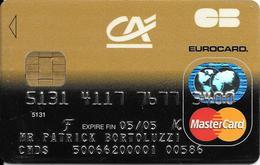 -CARTE+-PUCE-MAGNETIQUE-CB-CREDIT CREDIT AGRICOLE--MASTERCARD-MONEO-12/02-OBERTHUR-06/01-TBE-RARE - Cartes Bancaires Jetables