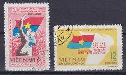 Vietnam 1970 Mi. 645-46    6 & 12 Xu Nationale Befreiungsfront (Vietcong) Flag Flagge Der Vietcong Complete Set - Vietnam
