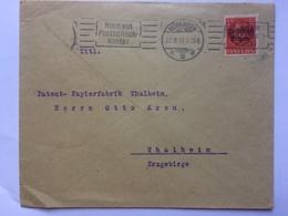BAVARIA 1918 Cover Nurnberg To Thalheim `Nimm Ein Postscheck Konto` Slogan Postmark - Hans Bosl Cachet - Bavière