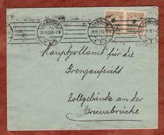 Brief, Korbdeckelmuster Saegezahn, Hamburg 1923 (78108) - Briefe U. Dokumente