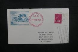 FRANCE - Enveloppe De Boulogne / Mer Pour L 'Allemagne Par Poste Privée De Londres En 1971, Voir Vignette - L 40526 - Lettres & Documents