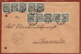 Brief, Katasteramt Bochum, Korbdeckelmuster, Nach Hamm 1923 (78109) - Deutschland