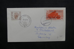BELGIQUE - Enveloppe De Bruxelles Pour L 'Allemagne Par Poste Privée De Londres En 1971, Voir Vignette Moto - L 40527 - Belgium