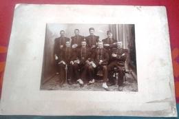 Grande Photo Sur Carton 8 Soldats 139 ème Régiment Infanterie Aurillac Photographe L. PARRY - Guerre, Militaire