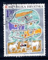 CROATIA 1995 Christmas Used.  Michel 353 - Croatia