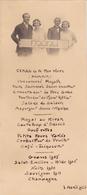 Menu  Personnalisé  Format 18 X 8  Du  7 Avril 1926 - Menus