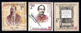 CROATIA 1995 Scientific Anniversaries  MNH / **.  Michel 349-51 - Kroatien