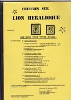 BELGIQUE CHIFFRE SUR LION HERALDIQUE  Par Raymond Huberty 29 Pages - Handbücher