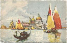 W4334 Venezia - Chiesa Della Salute - Illustrazione Illustration / Viaggiata 1948 - Venezia