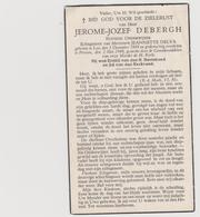 DOODSPRENTJE DEBERGH JEROME ECHTGENOOT DELVA LO PROVEN RUSTEND ONDERWIJZER - Santini