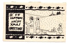 Carte USA Xmas Greetings - Old Paper