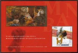 Argentina - 1999 - Peinture Argentine - Musée National Des Beaux-arts - Hojas Bloque