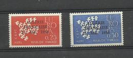1961 Europa, France 1309/ 1310 ** Surchargés Algérie Française 13 Mai 1958 - Unused Stamps