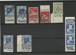 1926/ 54 Algérie Lot De Timbres Pub Neufs & Oblitérés Cote YT 45€ - Algerien (1924-1962)